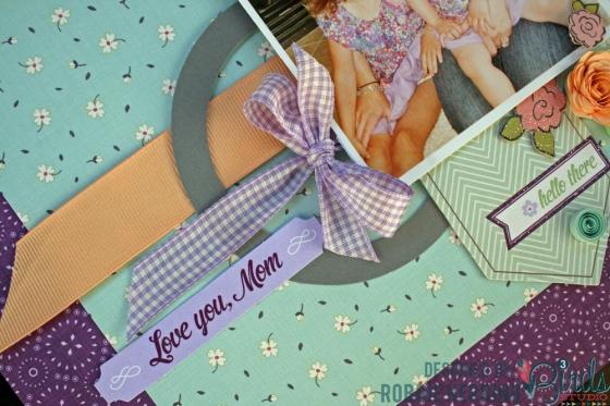 Mommy's Girl Scrapbook Page by Robbie Herring 3 Birds Studio Graceful Season Collection HSN.com 3birdsdesign.com