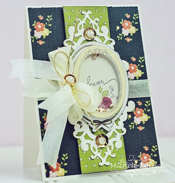 Forever Card by Michele Kovack Guest Designing for 3 Birds Design #middaymedley #3birdsdesign #card