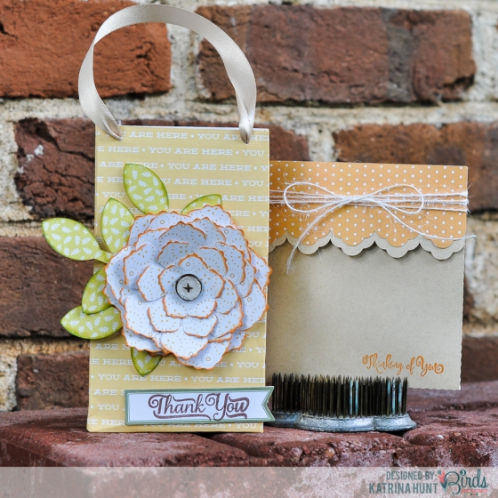 Gift Bag Tutorial and Envelope by Katrina Hunt for 3 Birds Design #3birdsdesign #middaymedley #gracefulseason #tutorial #giftbag #card