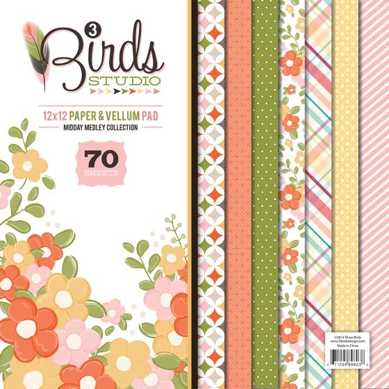 3 Birds Design Midday Medley Paper Vellum Pad HSN.com #3birdsdesign #middaymedley