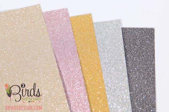 3 Birds Design Midday Medley Glitter Paper Pad #3birdsdesign #middaymedley #glitterpaper