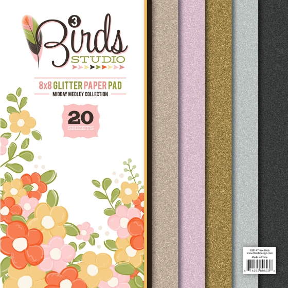 3 Birds Design Midday Medley Glitter Pad HSN.com #3birdsdesign #middaymedley