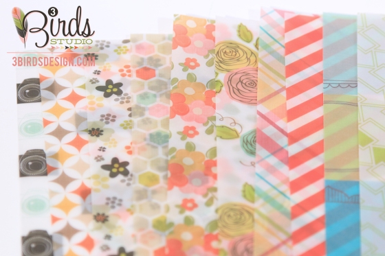 3 Birds Design Midday Medley Vellum Paper Pad #3birdsdesign #middaymedley #vellumpaper