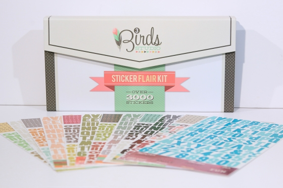 3 Birds Design Sticker Flair Kit #3birdsdesign #stickers