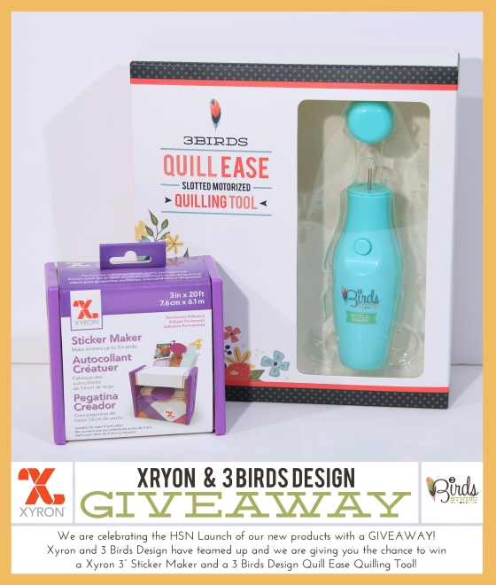 3 Birds Design and Xyron Giveaway