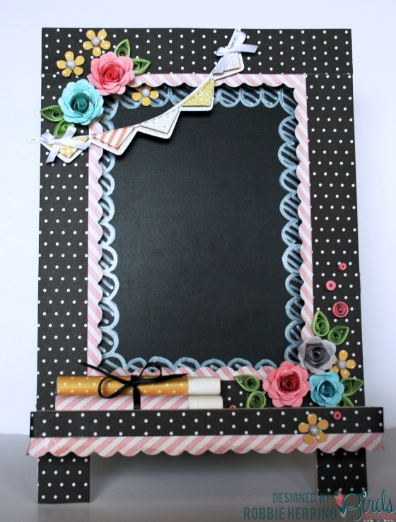 Altered Chalk Board by Robbie Herring for 3 Birds Design