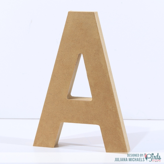 Altered Wood Letter Tutorial #3birdsdesign #alteredletter #homedecor