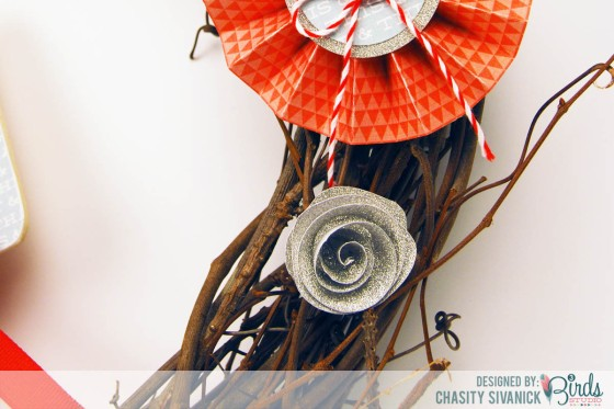 July 4th Wreath by Chasity Sivanick for #3birdsdesign #middaymedley #gracefulseasons #homedecor