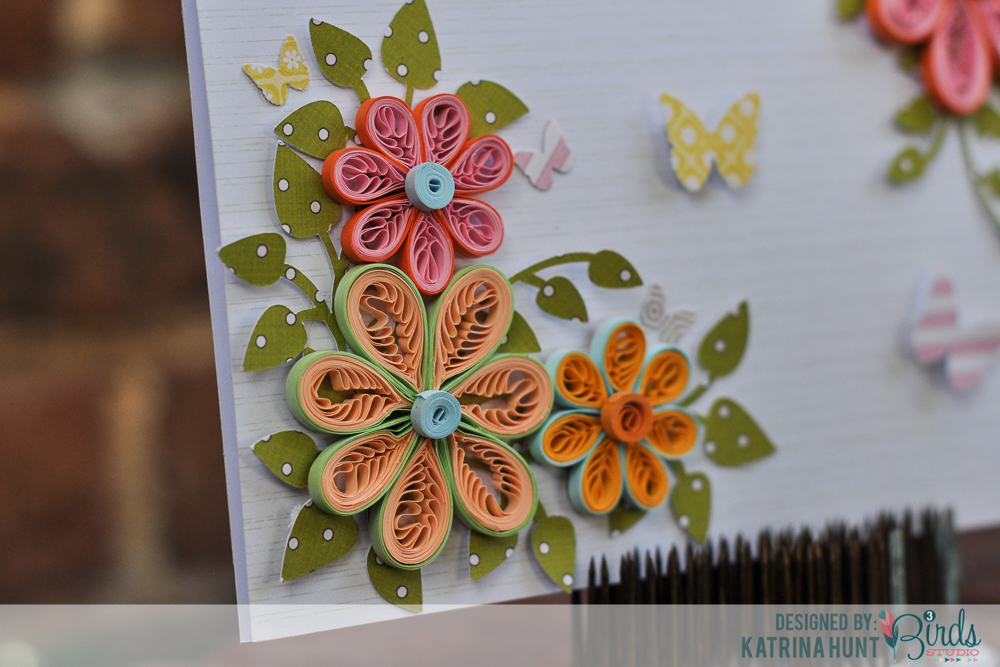 Quilled Flower Card And Quilling Comb Video 3birds Studio