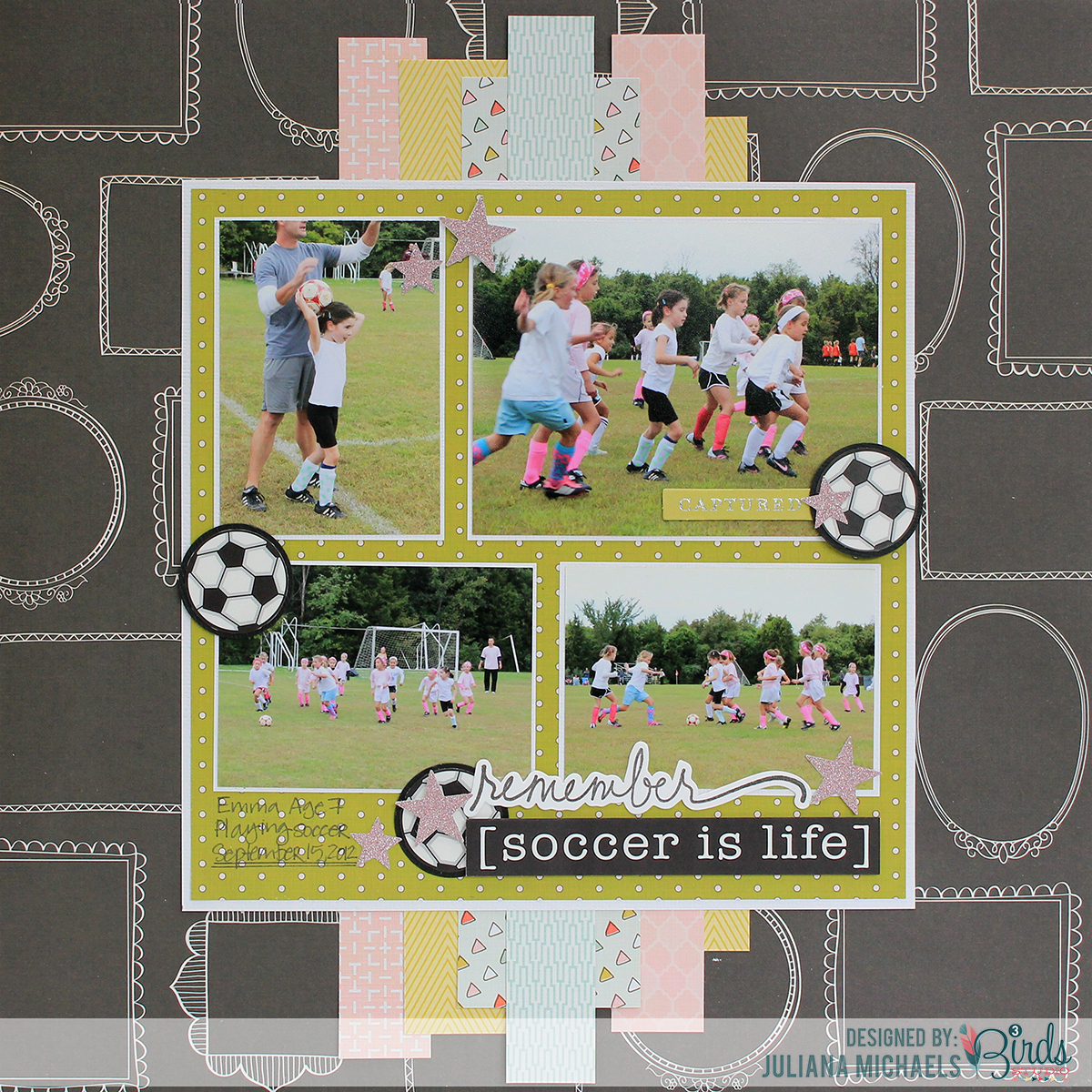 Soccer Is Life Scrapbook Page 3birds Studio