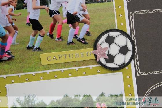 Remember Soccer Is Life Scrapbook Page by Juliana MIchaels for 3 Birds Design #3birdsdesign #middaymedley #scrapbookpage