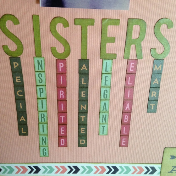 Sisters Scrapbook Page by Ardyce Seabrook Guest Designer for 3 Birds Design #stickerflair #stickers
