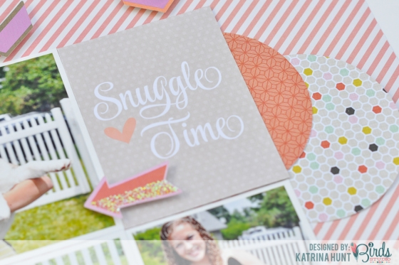 Snuggle Time Double Page Scrapbook Layout by Katrina Hunt for 3 BIrds Design