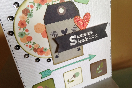 Summer Sizzle Card by Ardyce Seabrook Guest Designer for 3 Birds Design #stickerflair #stickers