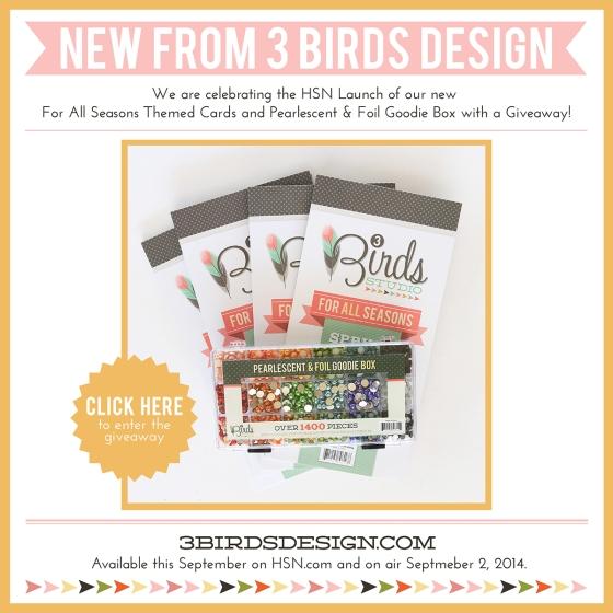 3 Birds Design September HSN Launch Celebration Giveaway