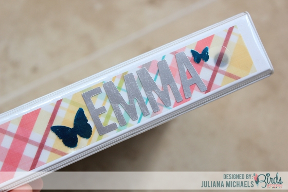 Back To School Personalized Binder by Juliana Michaels featuring 3 Birds Designs