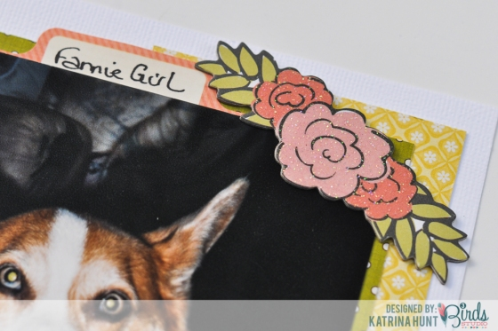 Katrina Hunt Posting for August 26, 2014 Cherish Layout  Memories, it's what scrapbooking is about right?  I tend to scrap the current ones, but for this layout today I scrapped from the past.  About the Corgi that started the Corgi craze here, Fannie.  I will admit, I shed a tear or two before I did this page and while I was journaling.  But I love the page and it truly defines her memory.  I used paper from the Midday Medley collection, stickers from the Sticker Flair kit and chipboard from the Graceful Season's collection.  Cherish_2014-8-26_KHunt-1.jpg HERE  I started with a white cardstock base, because I loved the flowered vellum paper in the Midday Medley pack.  (Trust me, I am loving the vellum!).  Attaching vellum can be tricky, because unless you use a specific adhesive made for vellum, chances are it will show thru.  There are ways around this, though if you do not have vellum adhesive!  I covered the top area where the vellum is attached with a punched border strip.  Easy!  You can see the punched strip under my journaling.  Cherish_2014-8-26_KHunt-3.jpg HERE  That left the bottom part and how to attach it.   I decided to tie twine around my layout for a cute bow at the bottom.  I just ran a strip of adhesive on the back of my layout and covered with my twine layers.  This was enough to hold my vellum in place at the bottom!  You can also staple, use embellishments to cover the adhesive area, etc.   Cherish_2014-8-26_KHunt-5.jpg HERE  I used chipboard and a sticker to make my title under my picture.  I also used a chipboard flower to embellish the top corner of my picture diagonally from the title area.  Cherish_2014-8-26_KHunt-2.jpg HERE Cherish_2014-8-26_KHunt-4.jpg HERE  And I love the vellum so much; I have a project over on my personal blog with it!  I would love if you came and checked it out!   Katrina Hunt Paper, Scissors and Glue Supplies:  Midday Medley 12x12 paper pad, Sticker Flair Set; Graceful Season Sticky Sparkly Glitter & Foil Chipboard 