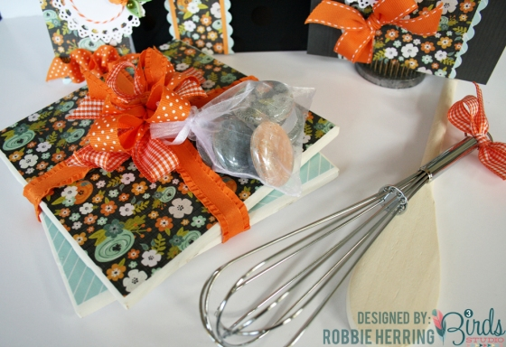 Gift Set with Coordinating Magnets and Trivets by Robbie Herring for 3 Birds Design Graceful Season