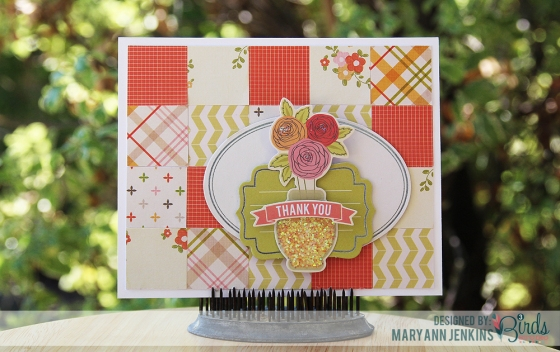 Thank You Card by Mary Ann Jenkins for 3 Birds Design
