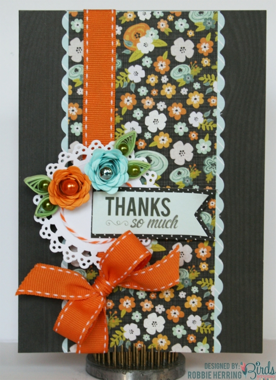 Thanks So Much Card by Robbie Herring for 3 Birds Design featuring the Pearlescent and Foil Goodie Box