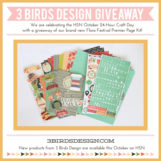 3 Birds Design Flora Festival Premier Page Kit Giveaway
