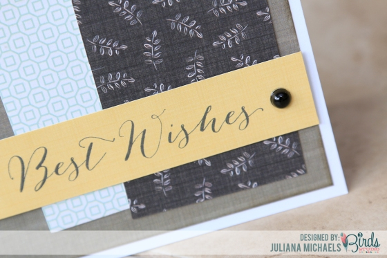 Best Wishes Masculine Card by Juliana Michaels for 3 Birds Design
