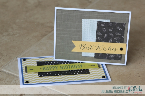 Masculine Birthday Cards by Juliana Michaels for 3 Birds Design