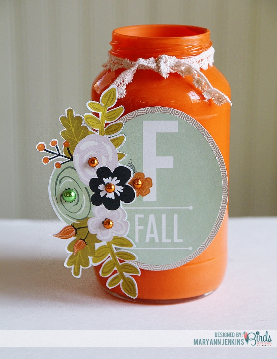 Crafting with found items Fall Home Decor by Mary Ann Jenkins for 3 Birds Design