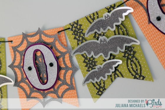Halloween Boo Banner by Juliana Michaels for 3 Birds Design