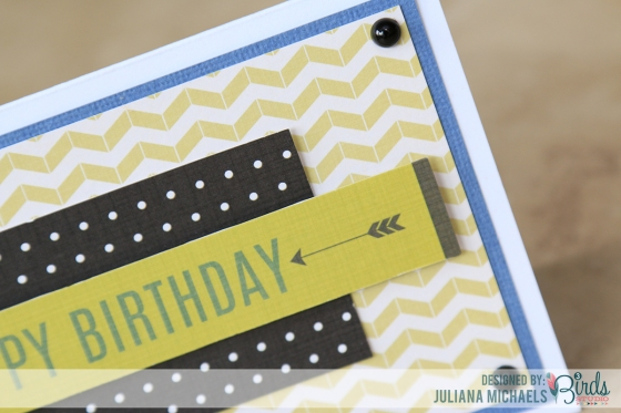 Happy Birthday Masculine Card by Juliana Michaels for 3 Birds Design