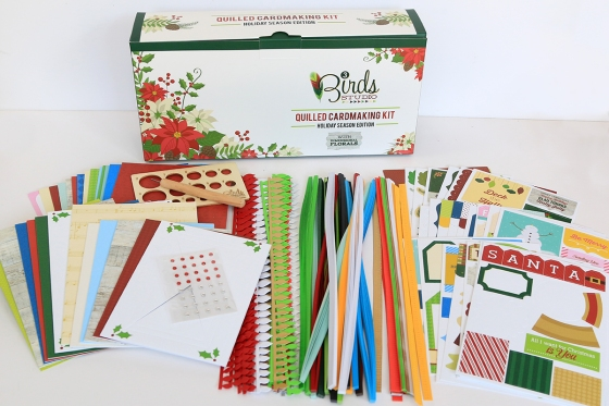 Holiday Season Quilled Cardmaking Kit 3 Birds Design
