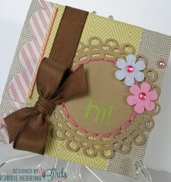 Quick and Easy Cards and Tags by Robbie Herring for 3 Birds Design