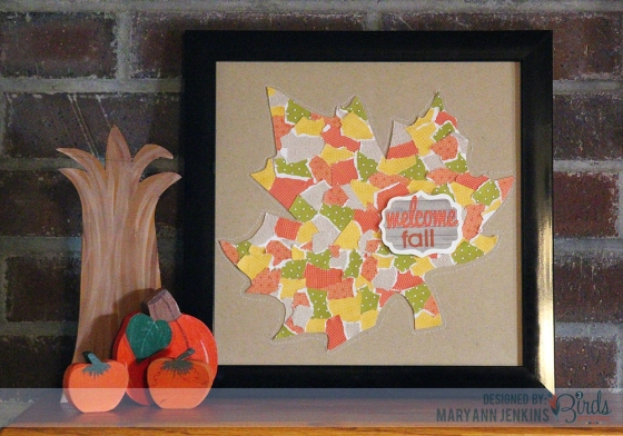 Welcome Fall Wall Art Frame by Mary Ann Jenkins for 3 Birds Design