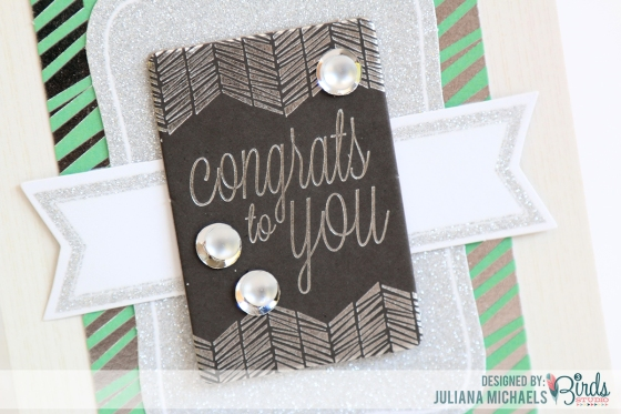 Congrats Card by Juliana Michaels for 3 Birds Design