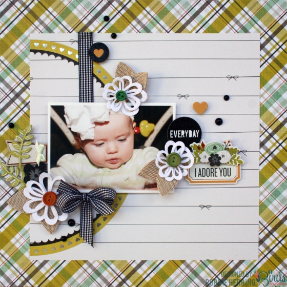 Everyday Scrapbook page by Robbie Herring for 3 Birds Design