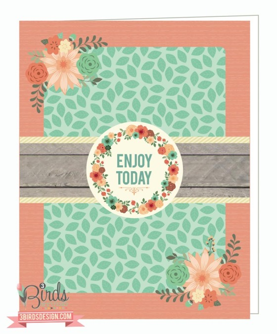 Flora Festival Page Kit by #3birdsdesign