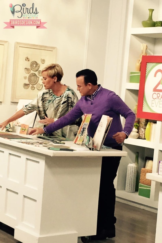 HSN October Show with #3birdsdesign #behindthescenes #lesleebrackin #billgreen