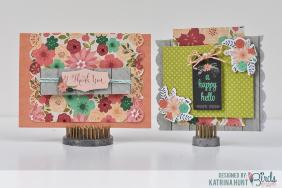 Punch Your Border Cards by Katrina Hunt for 3 Birds Design
