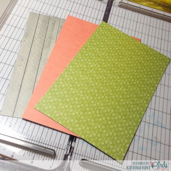 Punch Your Border Cards Tutorial by Katrina Hunt for 3 Birds Design
