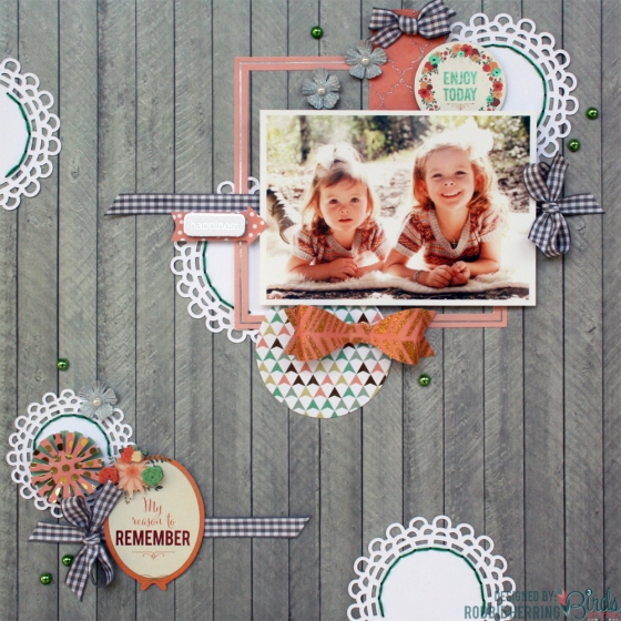 Remember Scrapbook Page by Robbie Herring for 3 Birds Design