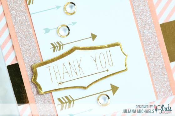 Thank You Card by Juliana Michaels for 3 Birds Design