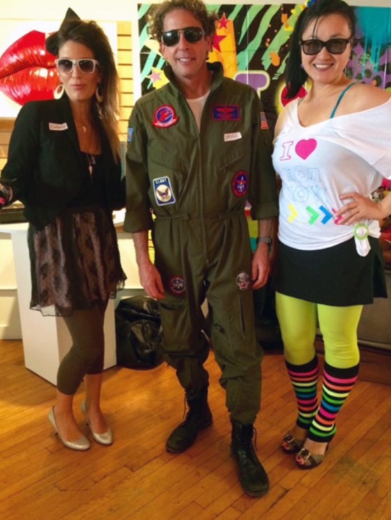 3Birds Halloween Party at the Nest #2014 #3birdsknowshowtoparty #totally80shalloween #topgun #80schicks