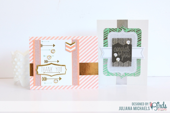 Touch Of Glimmer Cards by Juliana Michaels for 3 Birds Design