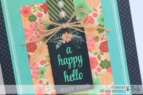 A Happy Hello Card by Juliana Michaels for 3 Birds Design