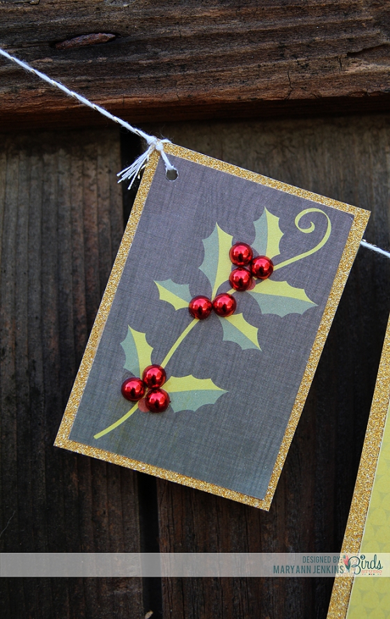 Christmas Banner by Mary Ann Jenkins for 3 Birds Design