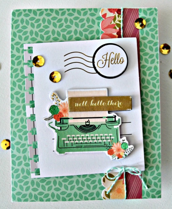 Hello There Card by Raechelle Bellus Guest Designer for 3 Birds Design