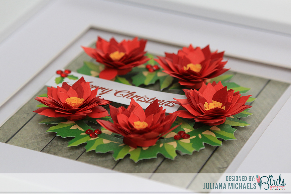 quilled_poinsettia_merry_christmas_frame_home_decor_juliana_michaels_3_birds_desgin_03 michaels crafts invitations denarius info,Michaels Crafts Invitations