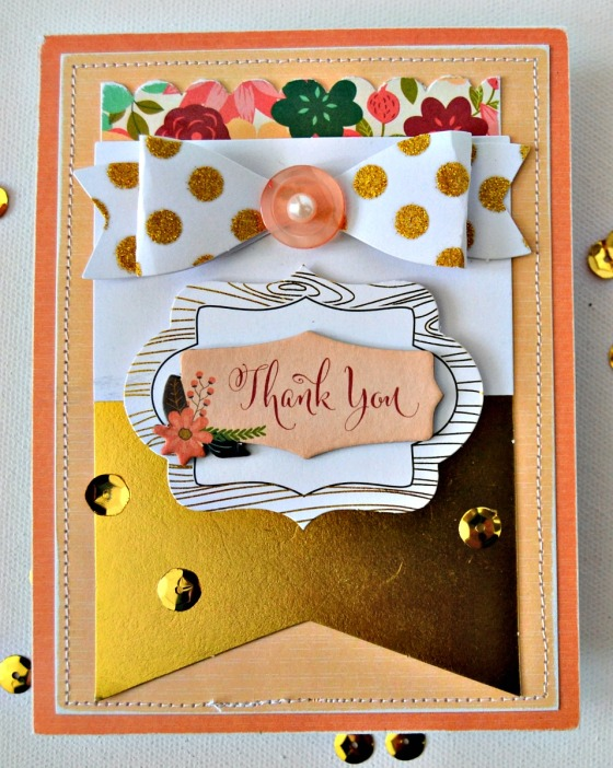 Thank You Card by Raechelle Bellus Guest Designer for 3 Birds Design
