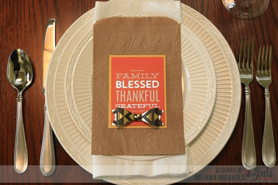 Thanksgiving Fall Place Setting by Juliana Michaels for 3 Birds Design