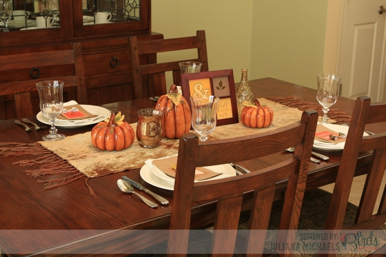 Thanksgiving Fall Table Setting by Juliana Michaels for 3 Birds Design